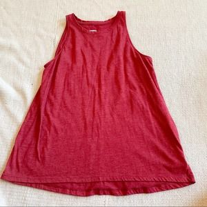 Old Navy Red High Neck Sleeveless Tank Top